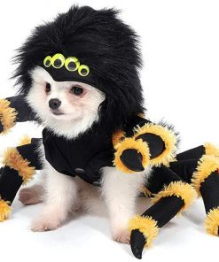 Mogoko Dog Cat Spider Costumes, Pet Halloween Cosplay Dress, Funny Spider Costume for Dogs