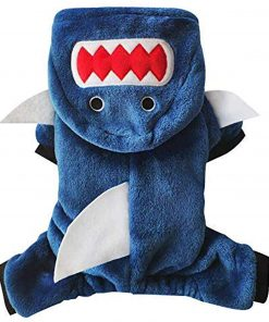 Pet Cat Funny Shark Halloween Costume, Adorable Dog Hoodie Clothes, Dog and Cat Holiday Costume for Halloween Christmas Party Cosplay 2
