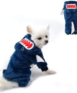 Pet Cat Funny Shark Halloween Costume, Adorable Dog Hoodie Clothes, Dog and Cat Holiday Costume for Halloween Christmas Party Cosplay