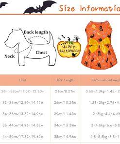 Ruizik 3 Pack Halloween Dog Dress,Halloween Costume for Dogs Female Male,Dog Halloween Costume xs,Halloween Christmas Cosplay 2