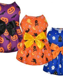 Ruizik 3 Pack Halloween Dog Dress,Halloween Costume for Dogs Female Male,Dog Halloween Costume xs,Halloween Christmas Cosplay