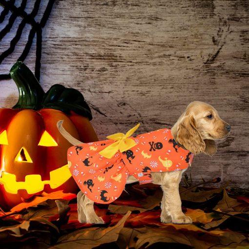 Ruizik 3 Pack Halloween Dog Dress,Halloween Costume for Dogs Female Male,Dog Halloween Costume xs,Halloween Christmas Cosplay 3