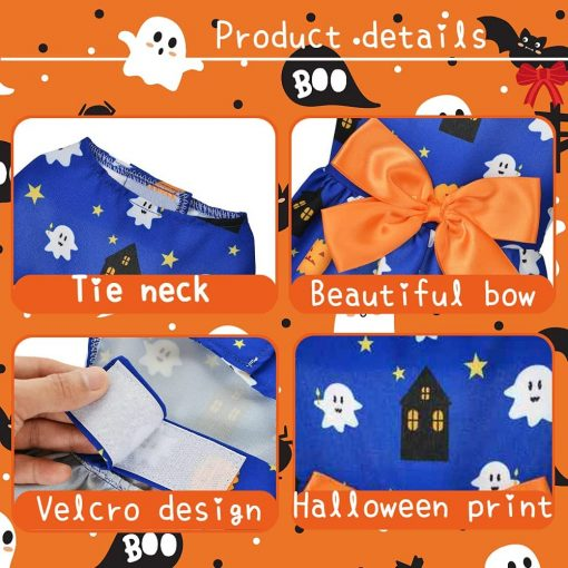 Ruizik 3 Pack Halloween Dog Dress,Halloween Costume for Dogs Female Male,Dog Halloween Costume xs,Halloween Christmas Cosplay 7