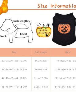 Ruizik Halloween Costumes for Small Dogs,Small Dog Tshirts Female Male,Halloween Pumpkin Dog Shirt,Halloween Costumes for xs Puppies,Small Dog Outfit 2