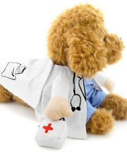 SELMAI Puppy Pet Dog Cat Doctor Suit Costume Fancy Dress Small Dog Coat Medicine Box Decorated All Seasons 4