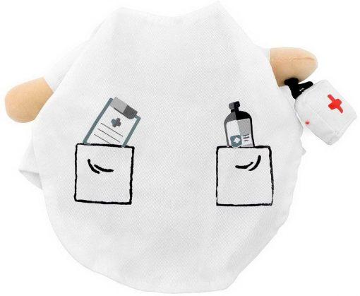 SELMAI Puppy Pet Dog Cat Doctor Suit Costume Fancy Dress Small Dog Coat Medicine Box Decorated All Seasons 8
